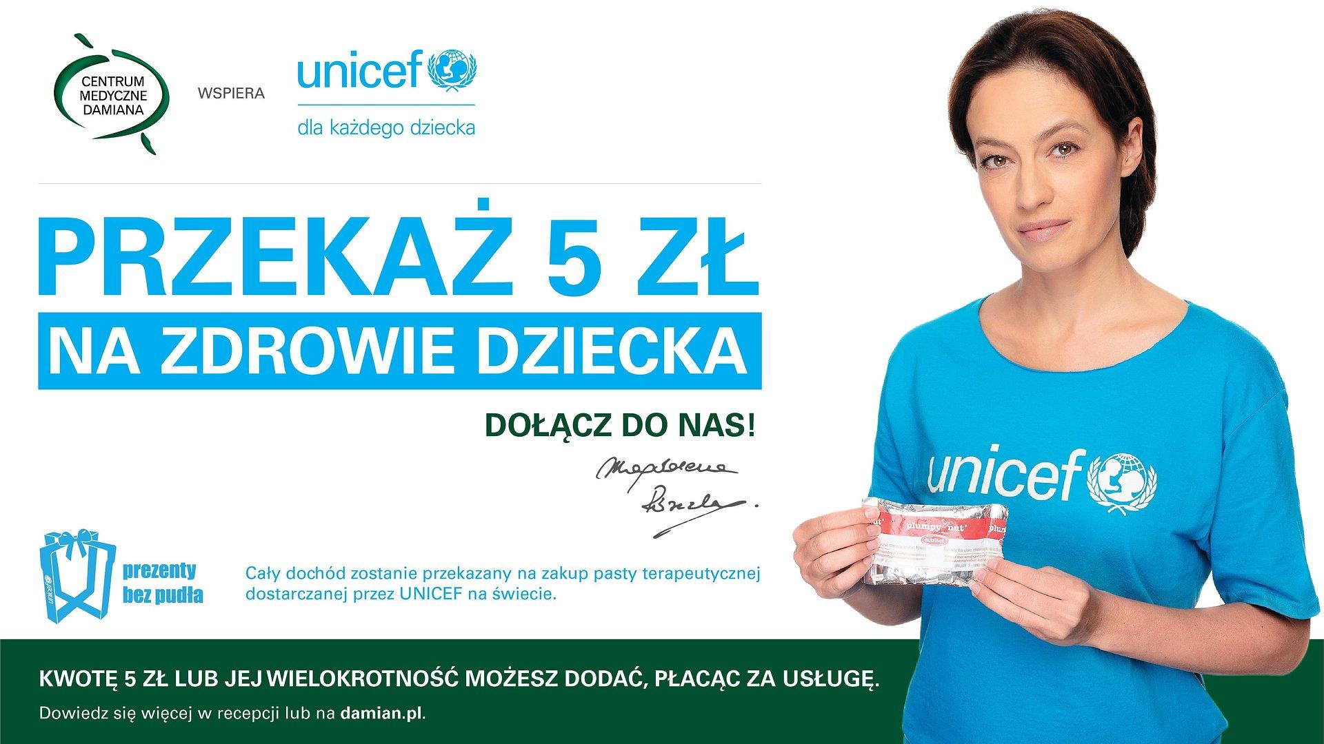 Centrum Medyczne Damiana i UNICEF Polska po raz kolejny łączą siły