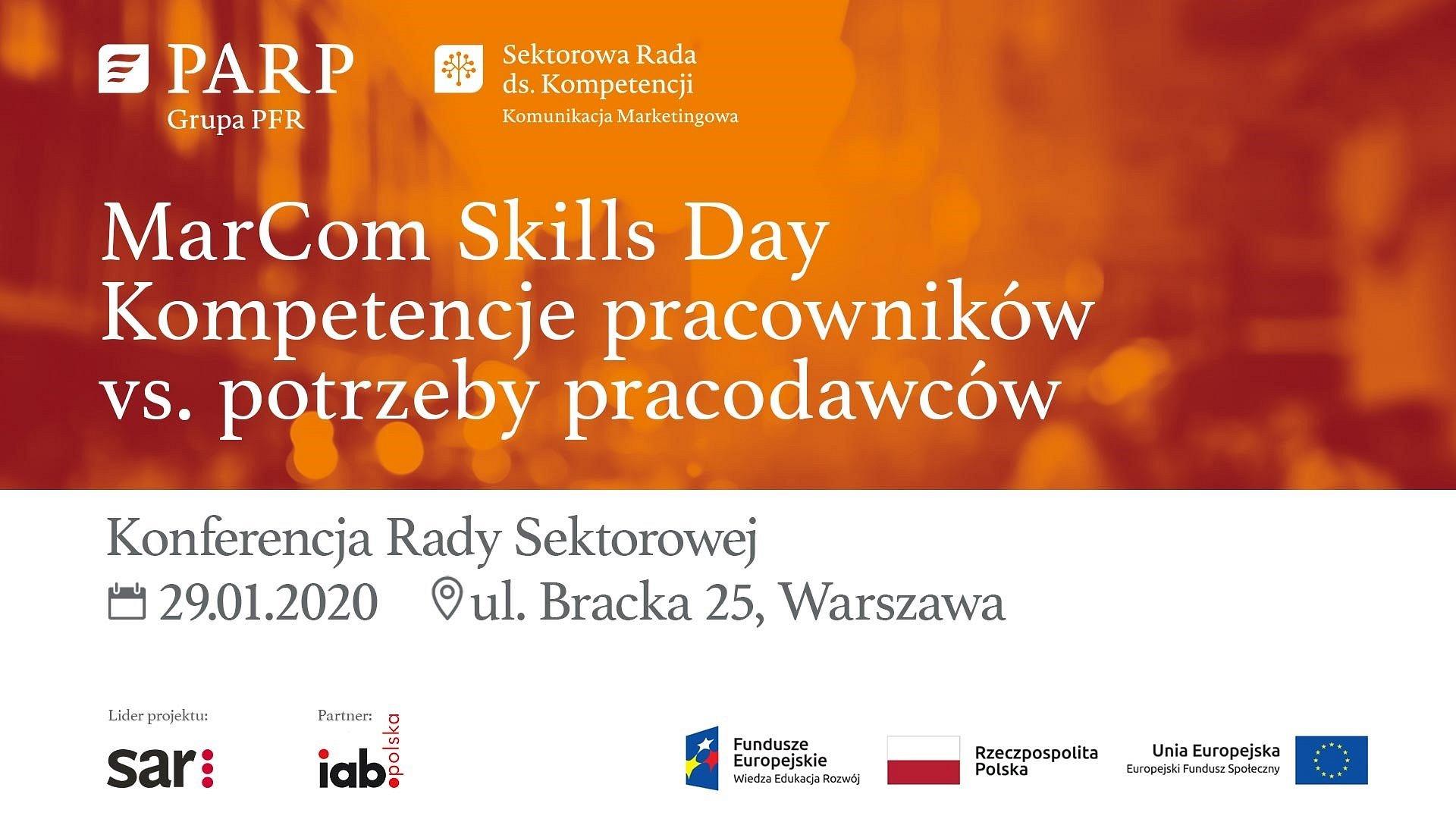 """MarCom Skills Day – pierwsza konferencja Sektorowej Rady ds. Kompetencji Sektora Komunikacji Marketingowej pod hasłem """"Kompetencje pracowników vs. potrzeby pracodawców"""""""
