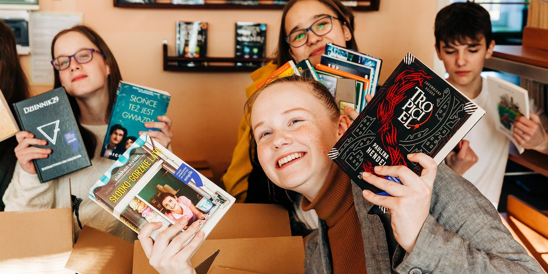 1000 książek od Empiku dla szkoły w Halinowie