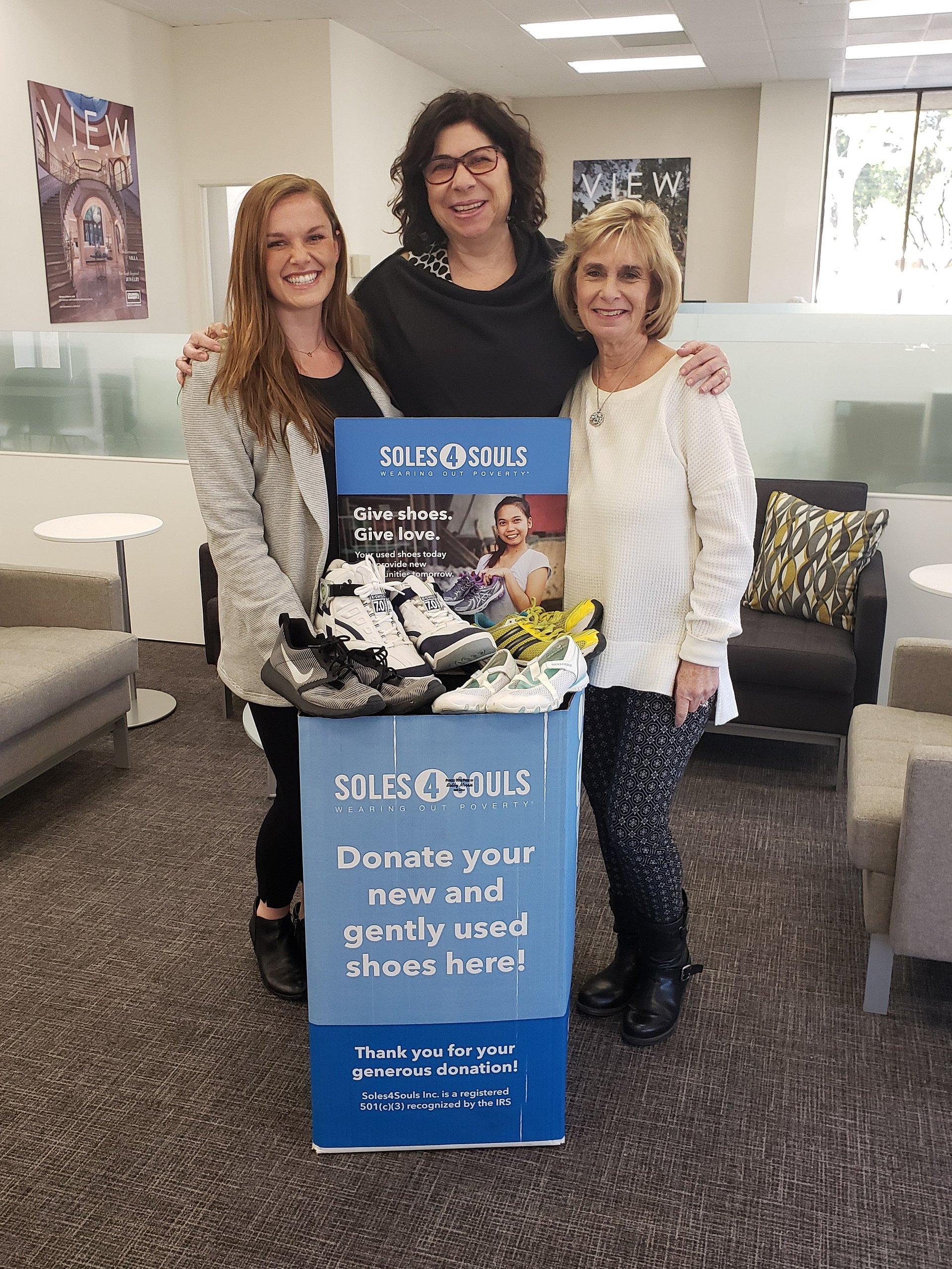 Coldwell Banker's Cathy & Michelle Gerrard Host Shop & Drop Shoe Donation Event for Soles4Souls at Westlake Shoes, Jan. 25