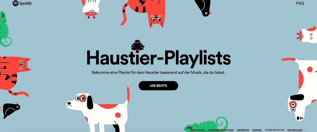 Jetzt gibt's Spotify Playlists für Haustiere