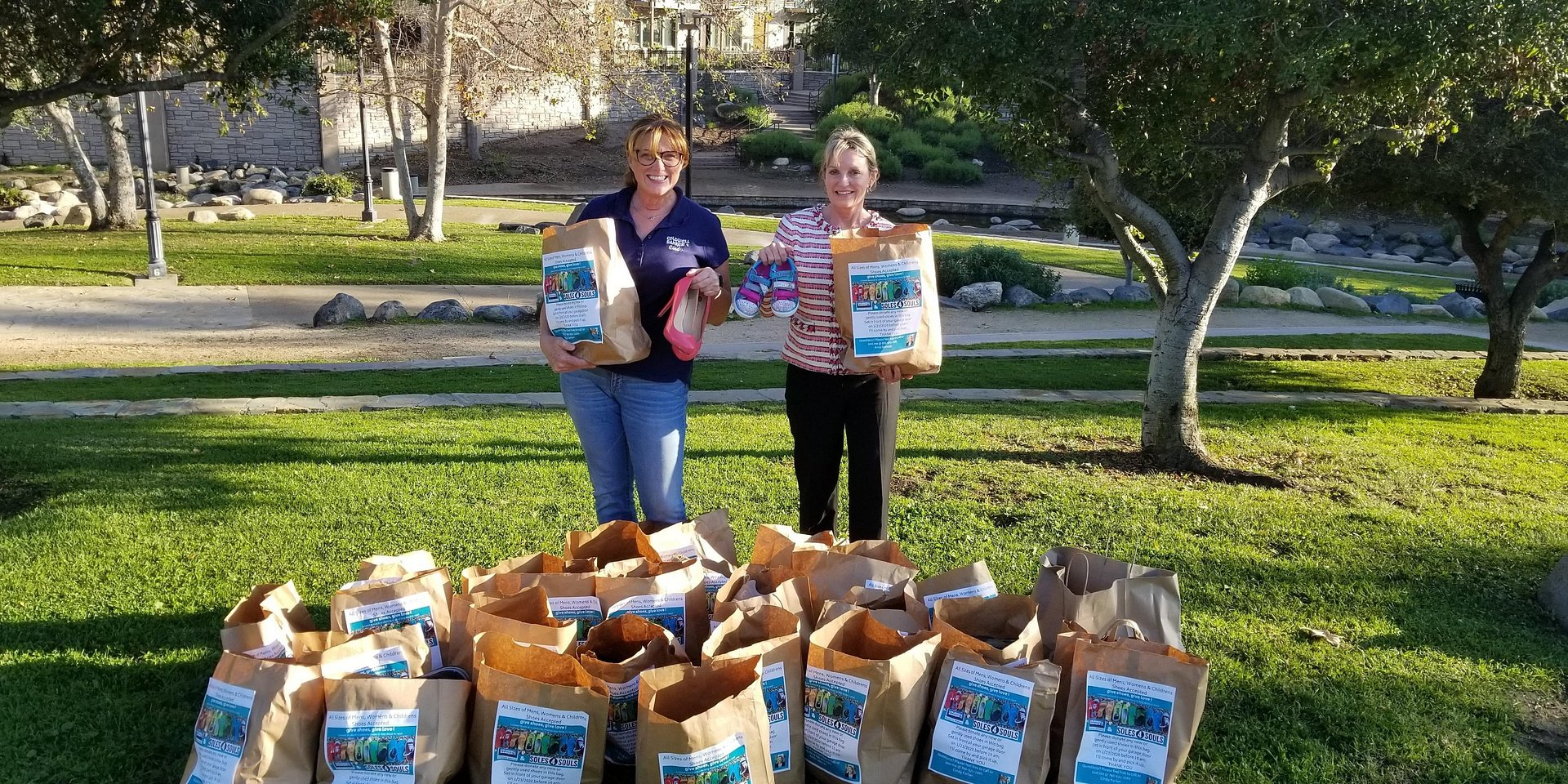 Coldwell Banker's Cindy Farfan & Anita Spencer Collected 115 Pairs of Shoes for Soles4Souls