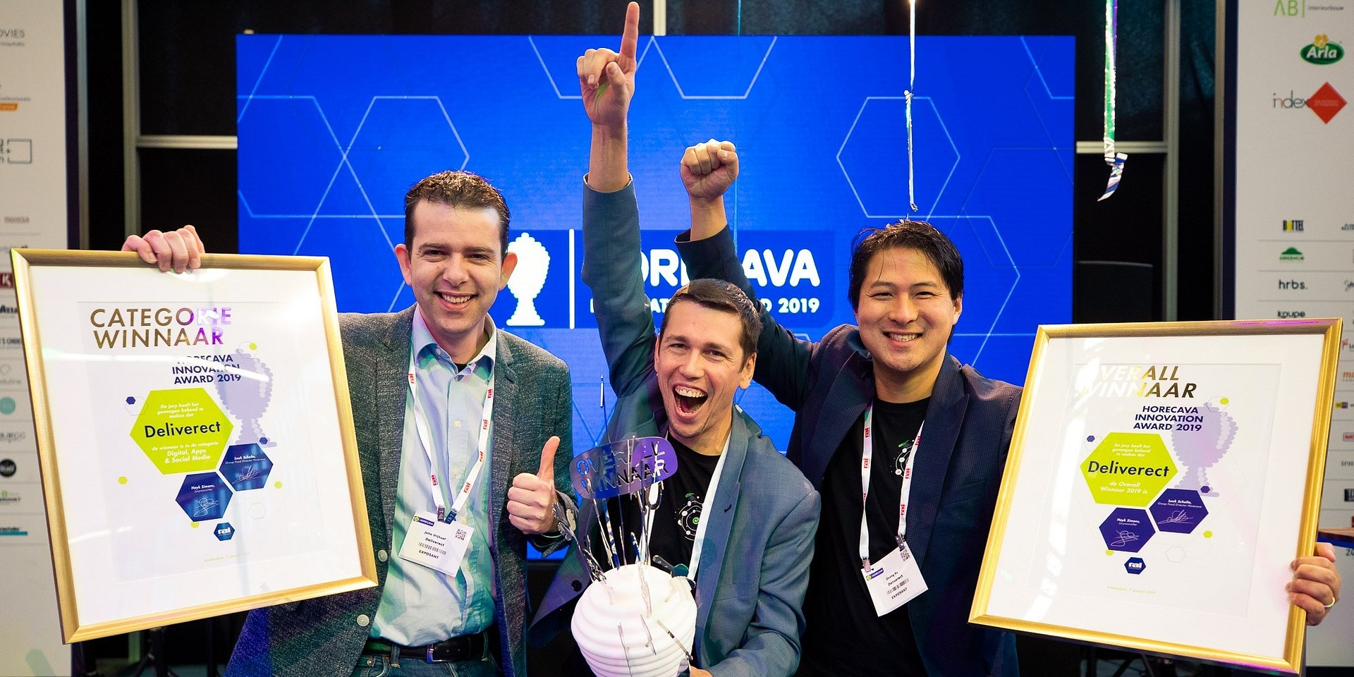 Deliverect wins the 2019 Horecava Innovation Award