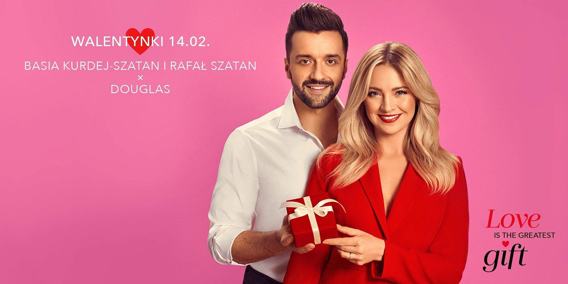 Barbara Kurdej-Szatan i Rafał Szatan w walentynkowej kampanii Douglas
