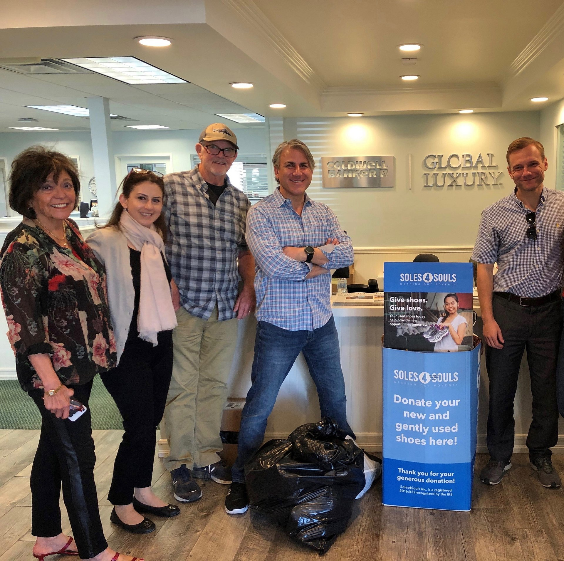The Pacific Palisades Office of Coldwell Banker Realty Collects 53 Pairs of Shoes for Soles4Souls
