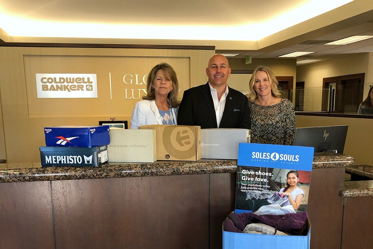 The Carlsbad Office of Coldwell Banker Realty Collects 109 Pairs of Shoes for Soles4Souls