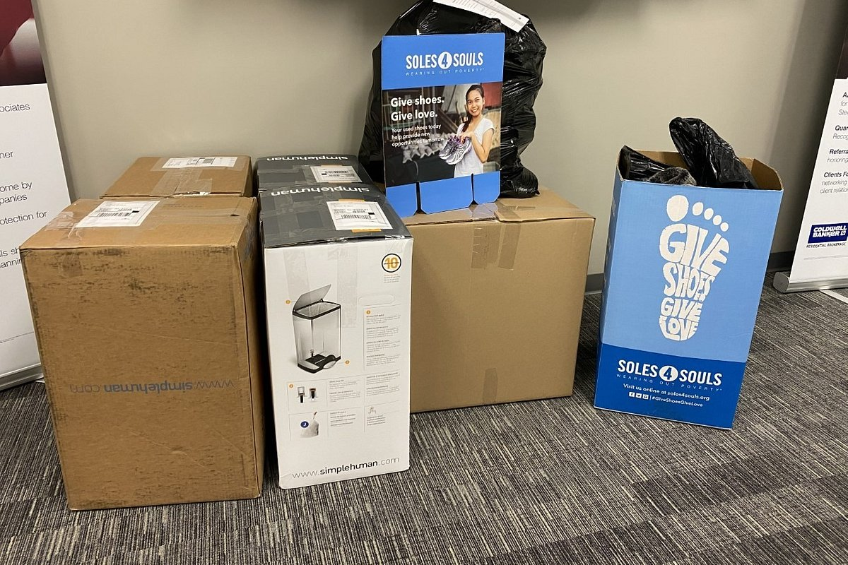 The Temecula Office of Coldwell Banker Realty Collects 225 Pairs of Shoes for Soles4Souls