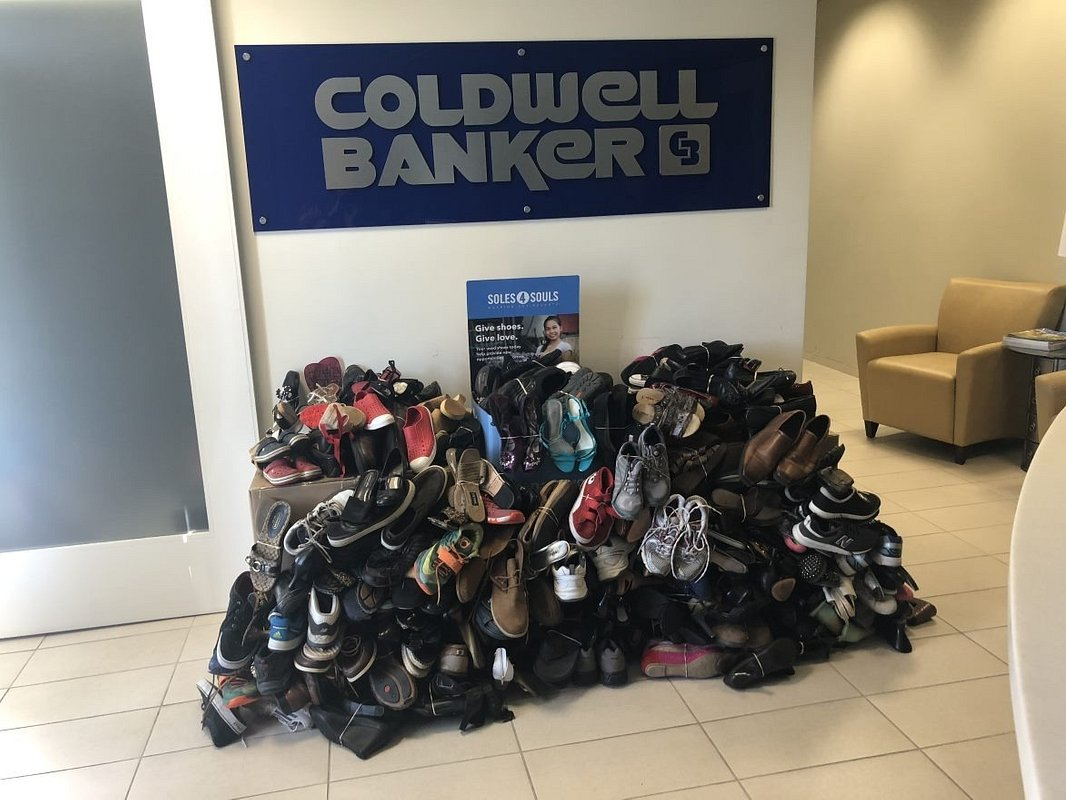 The Rancho Bernardo Office of Coldwell Banker Realty Collects 425 Pairs of Shoes for Soles4Souls