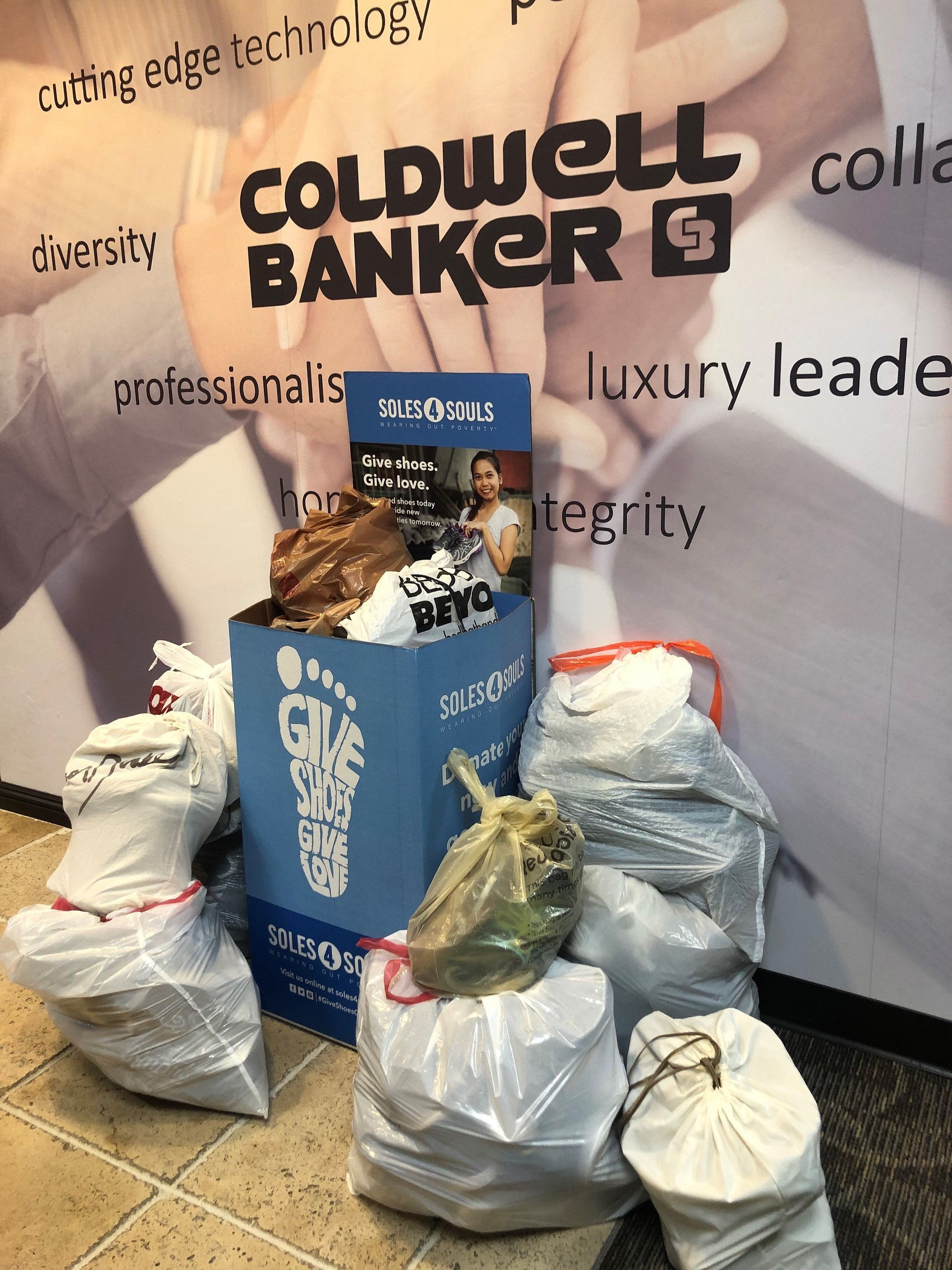 The Irvine Office of Coldwell Banker Realty Collects 150 Pairs of Shoes for Soles4Souls