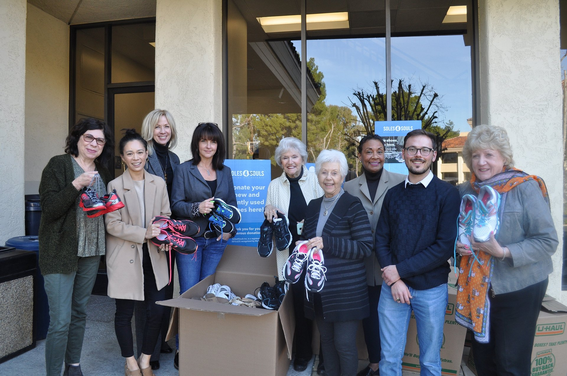 The Westlake Village Regional Office of Coldwell Banker Realty Collects More Than 600 Pairs of Shoes for Soles4Souls