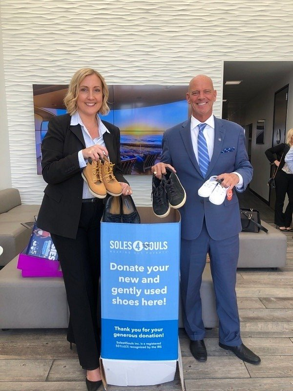 The La Jolla Office of Coldwell Banker Realty Collects More Than 300 Pairs of Shoes for Soles4Souls