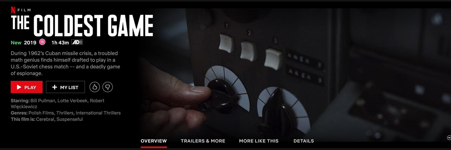 """""""Ukryta gra"""" / """"The Coldest Game"""" od 8 lutego dostępna w 189 krajach na platformie Netflix"""