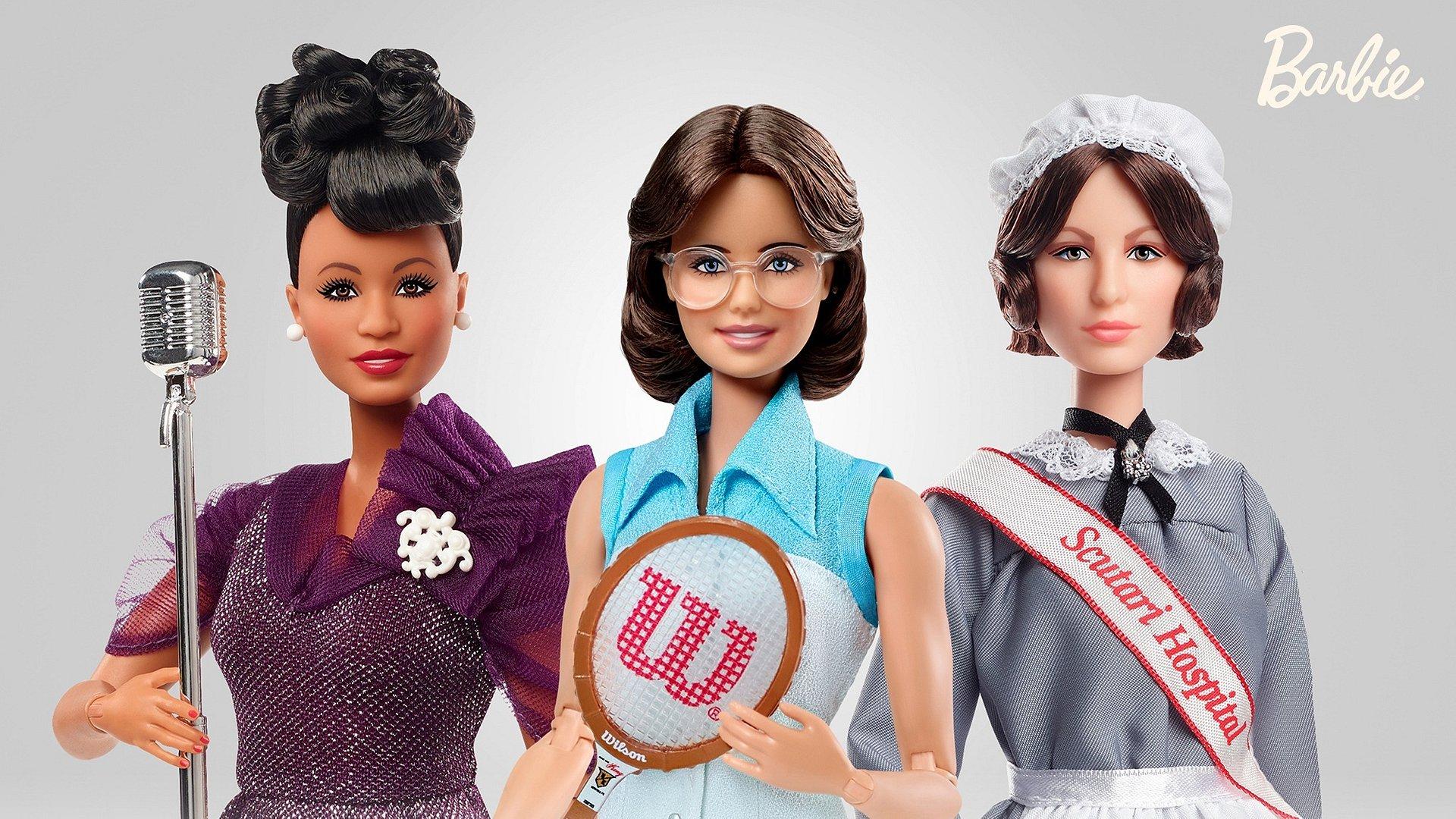 Billie Jean King, Florence Nightingale i Ella Fitzgerald wśród nowych lalek z serii Barbie Inspirujące Osobowości