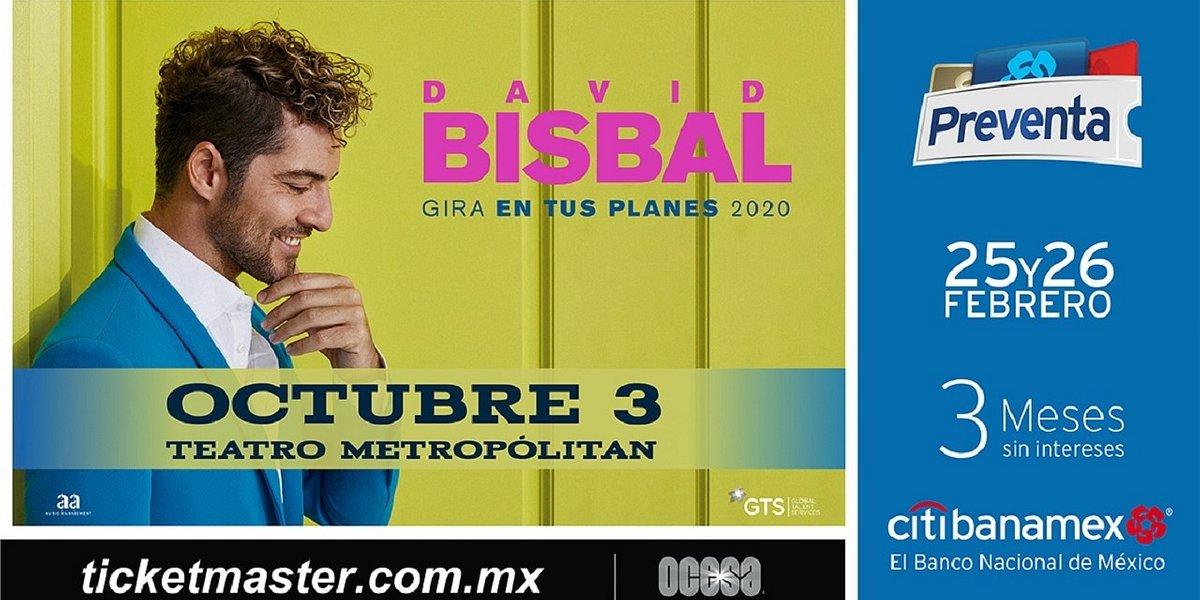 David Bisbal llegará a México con su gira En tus planes