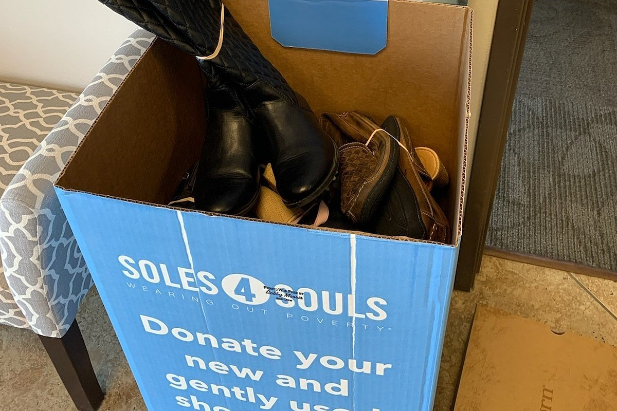 The Murrieta Office of Coldwell Banker Realty Collects 68 Pairs of Shoes for Soles4Souls