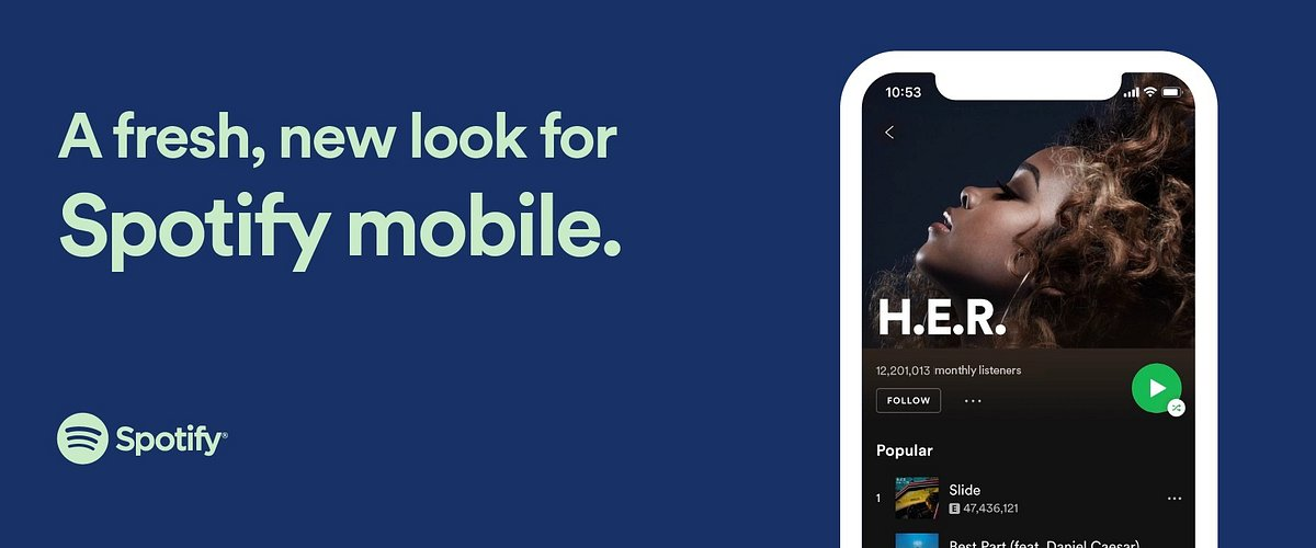 Odświeżona aplikacja mobilna Spotify już dostępna!