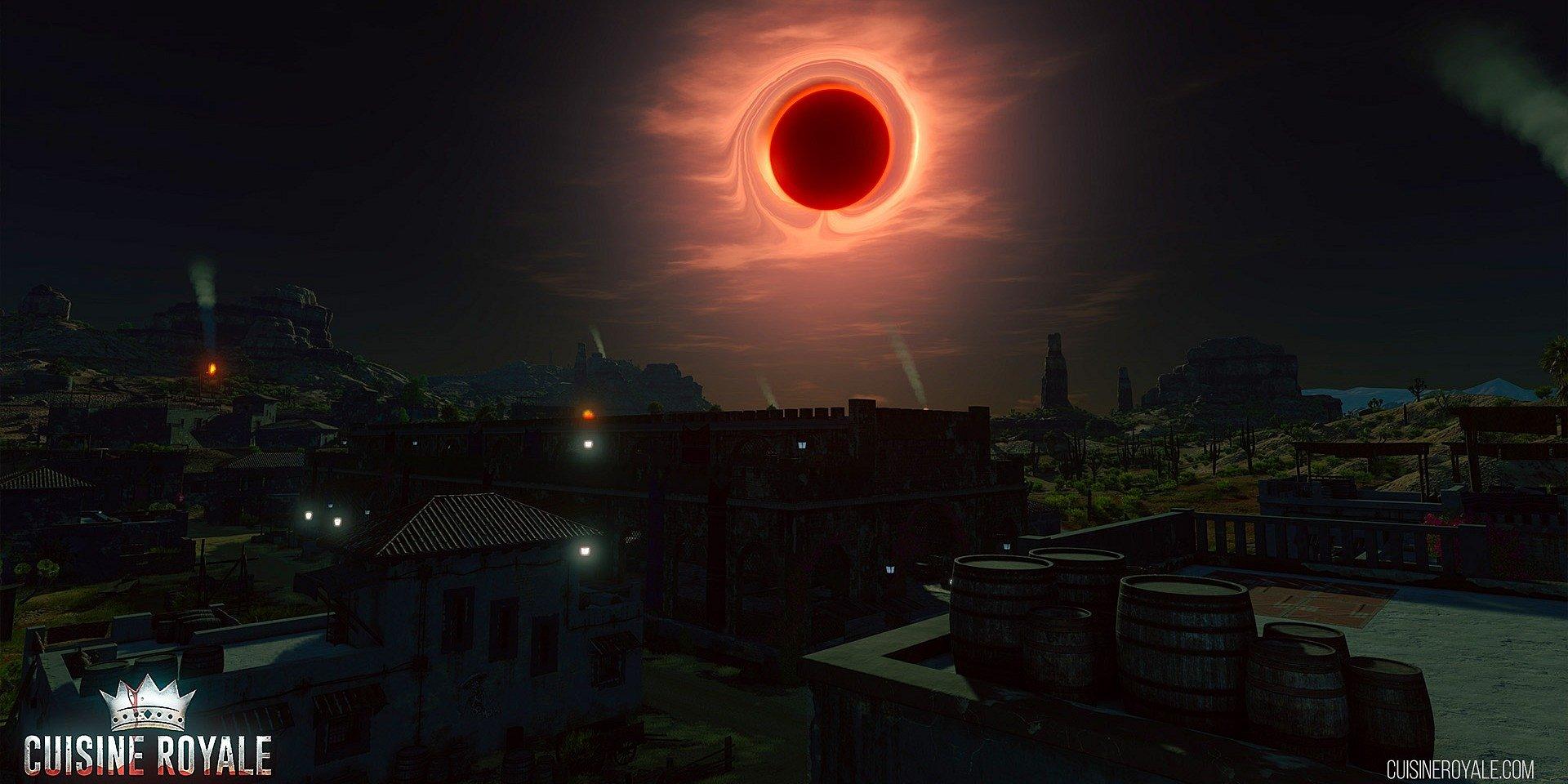 Čierne slnko sa vznáša nad Cuisine Royale