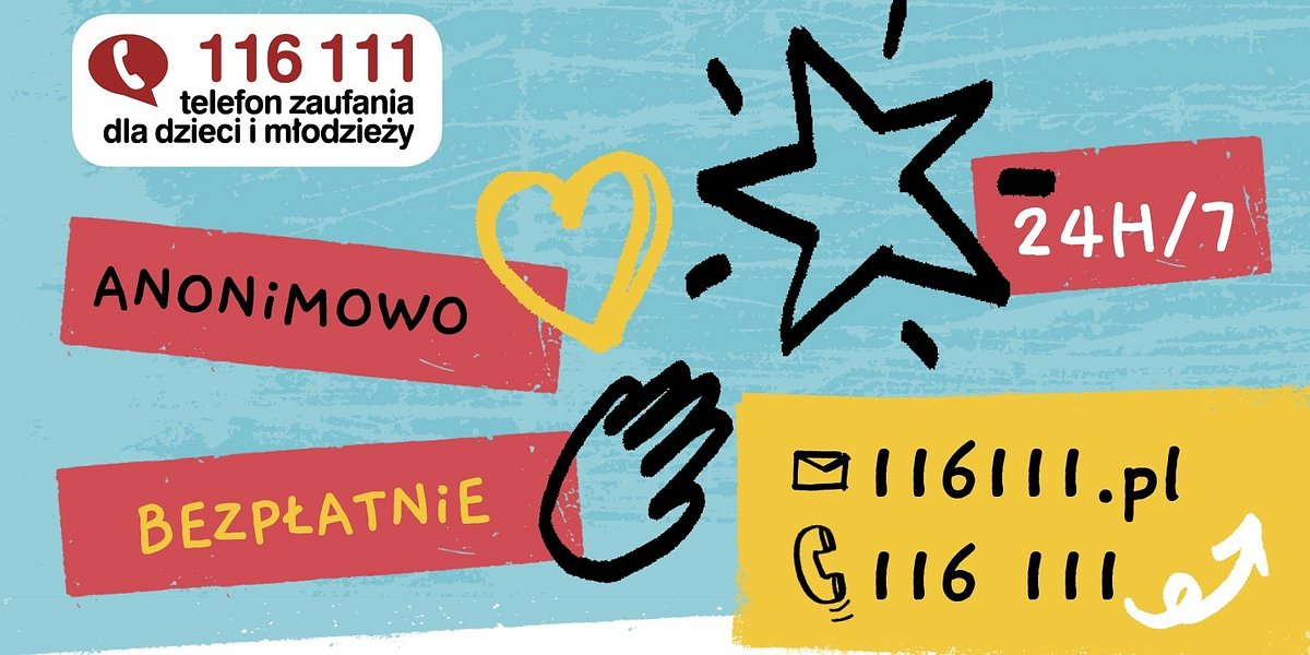 Od 1 marca br. Telefon Zaufania dla Dzieci i Młodzieży 116 111 działa całą dobę!