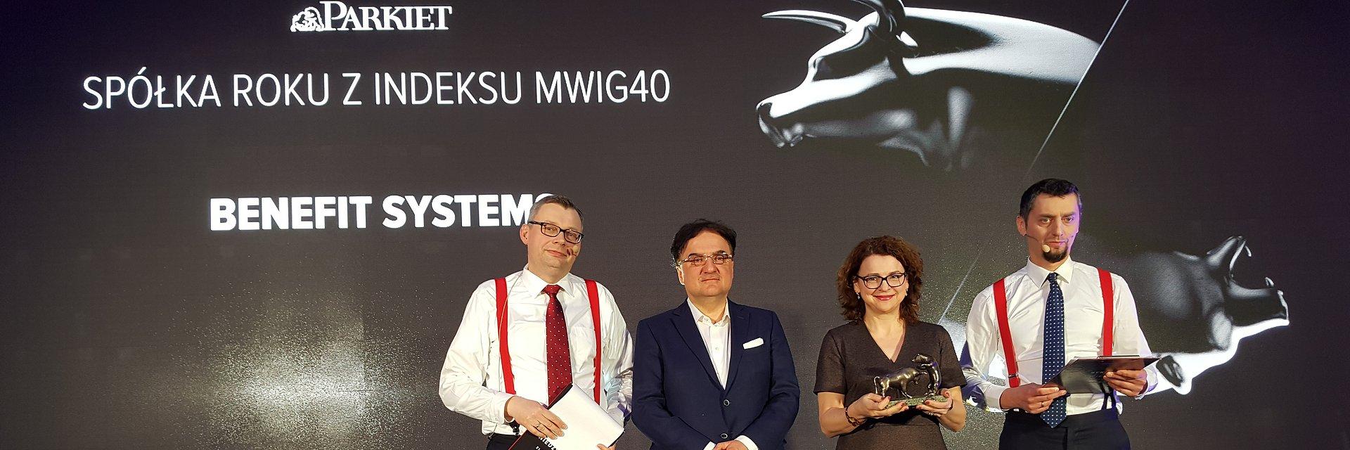 Benefit Systems najlepszą firmą z mWIG40