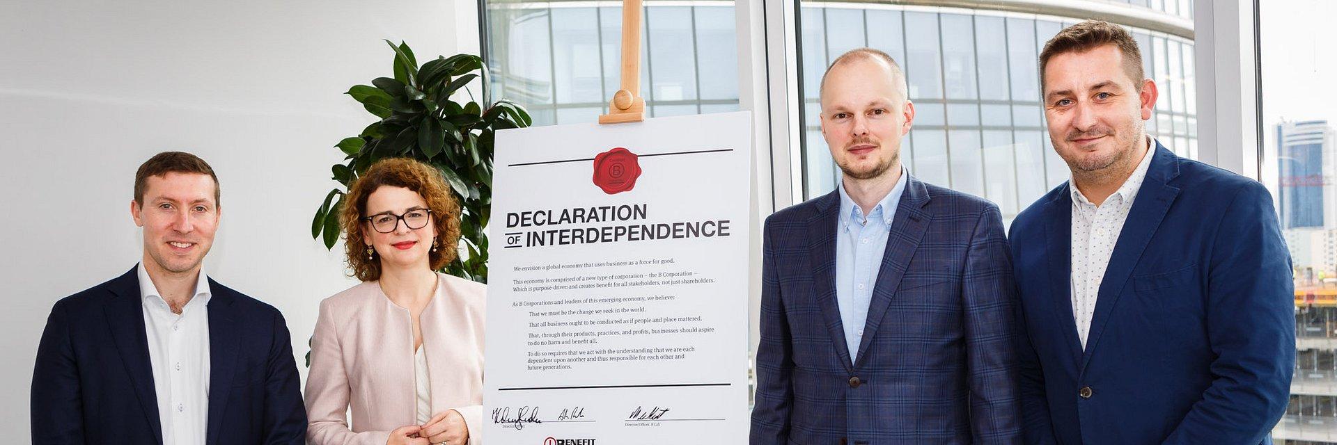 Benefit Systems jedyną polską firmą z tytułem B Corp