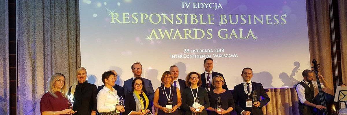 """Benefit Systems wyróżniony w konkursie """"Responsible Business Awards"""""""