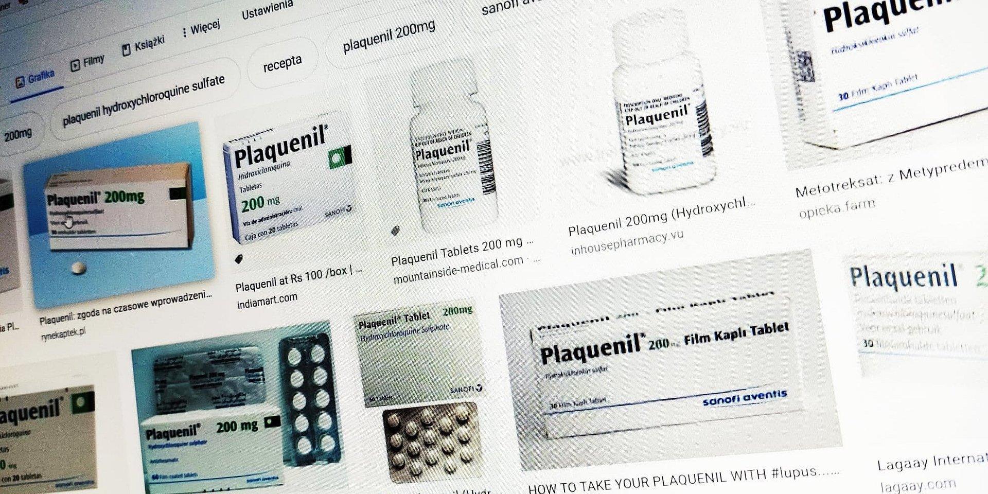 Arechin i Plaquenil do walki z koronawirusem. Pacjenci chcą zażywać... profilaktycznie