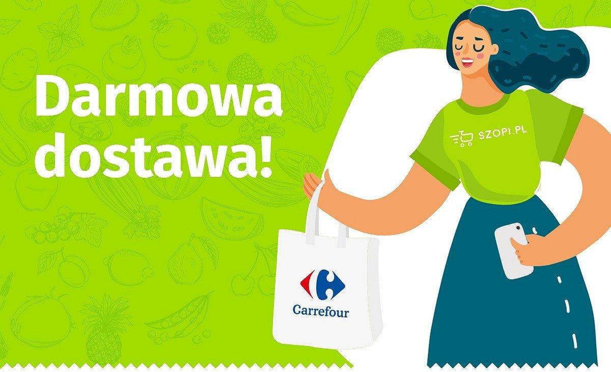 Carrefour i Szopi.pl łączą siły w darmowej dostawie produktów spożywczych osobom powyżej 60 roku życia