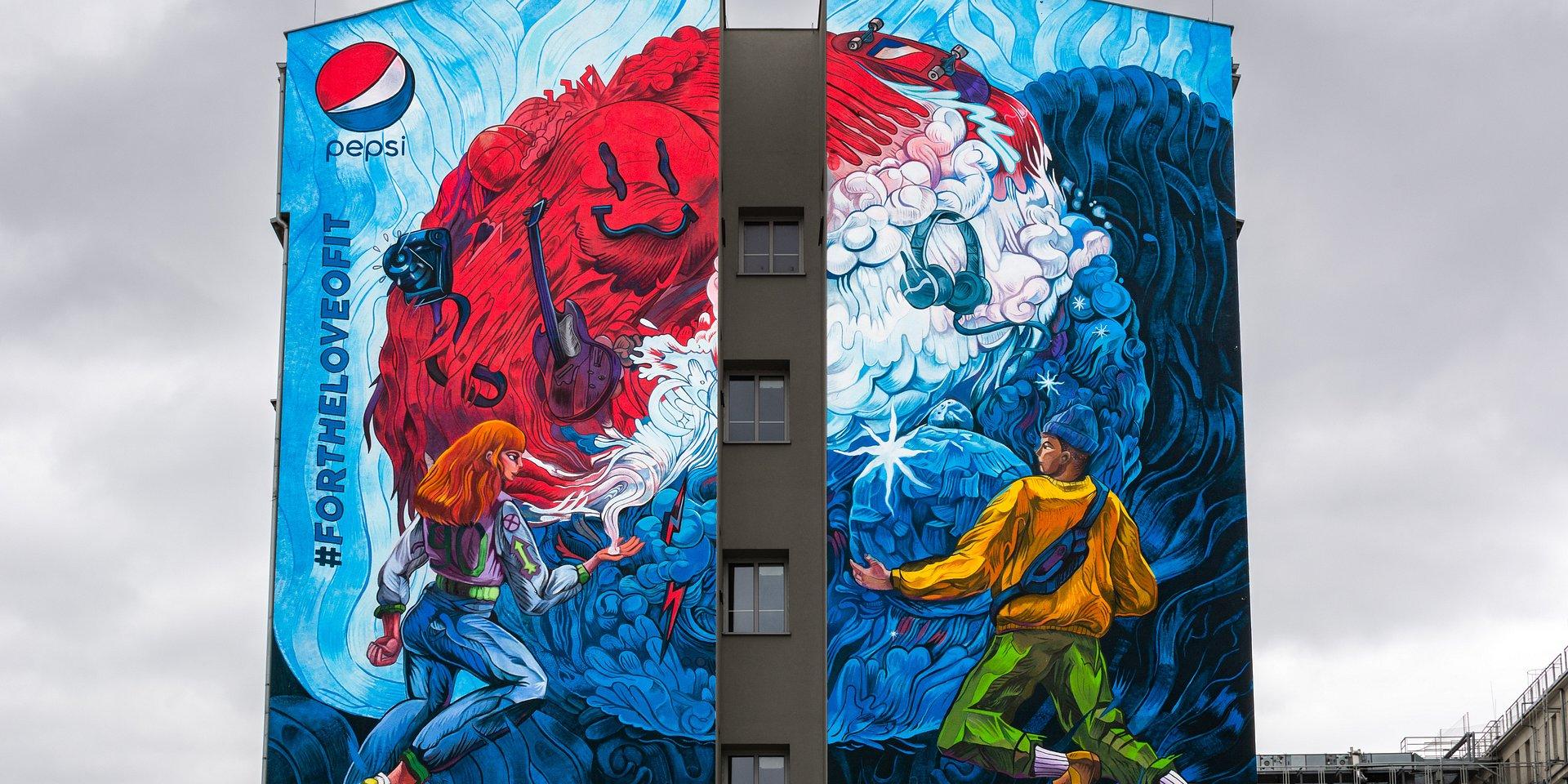 Mural #FORTHELOVEOFIT na warszawskiej Pradze