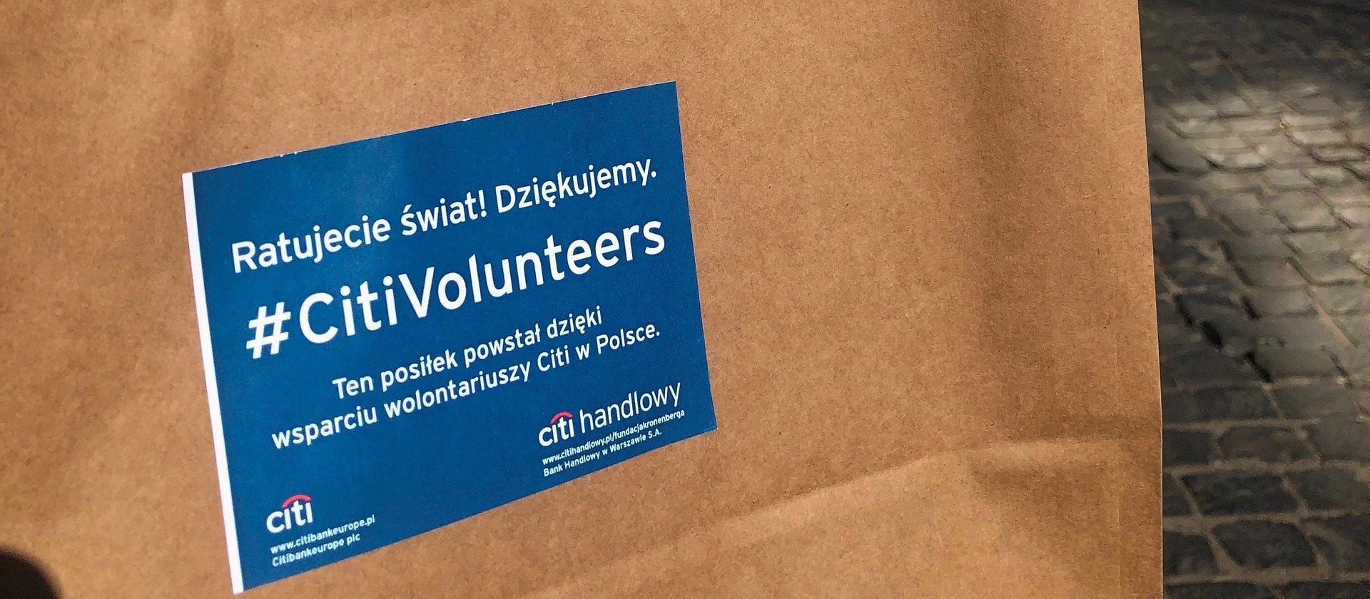 Ponad tysiąc wolontariuszy Citi wspiera ratowników w Warszawie i Olsztynie