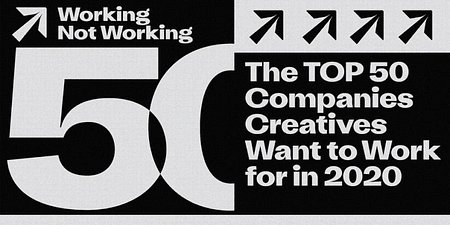 "BBDO na liście ""Top 50 companies creatives want to work for in 2020"""