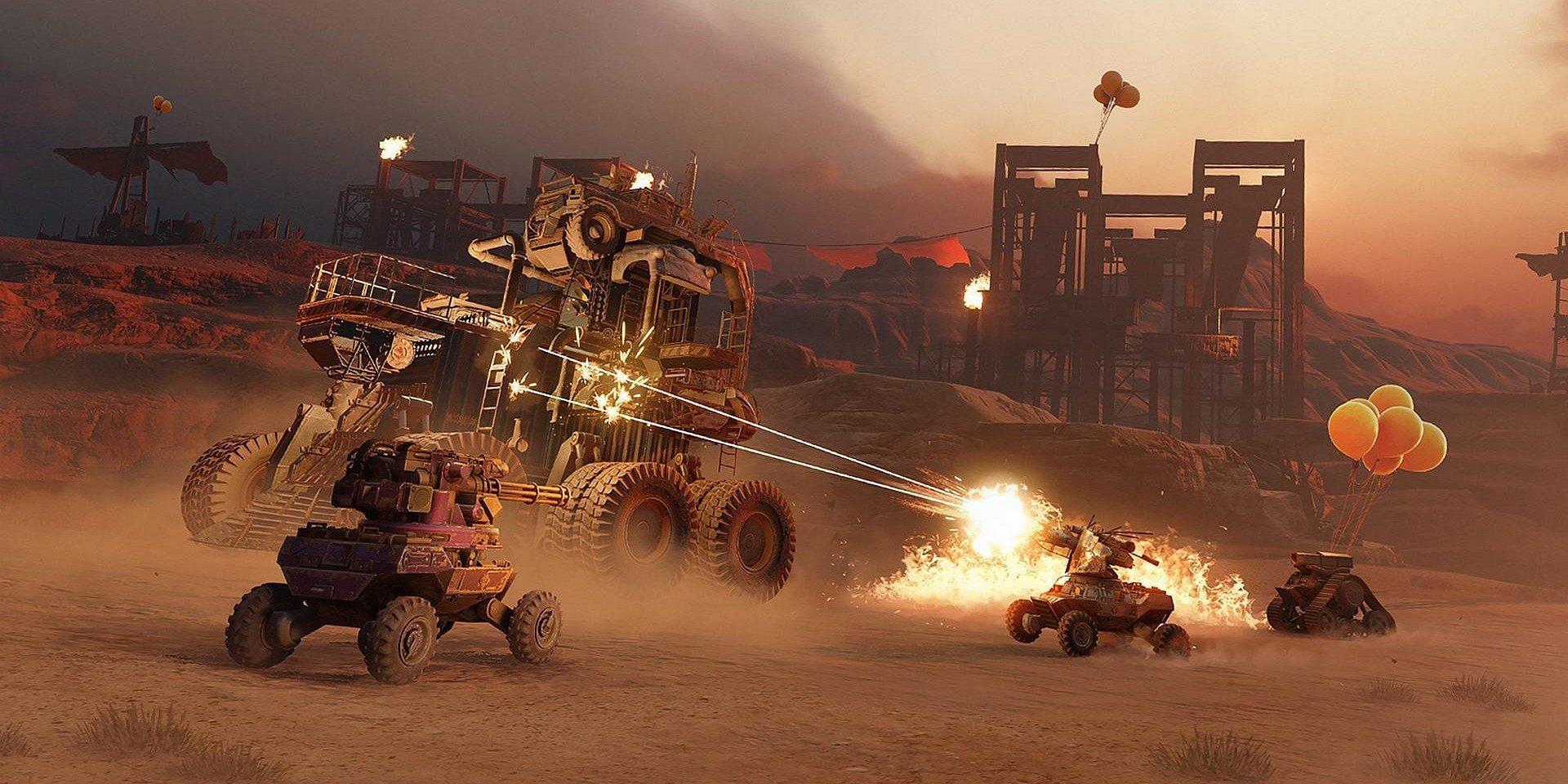 Crossout nabáda hráčov aby zostali doma a bojovali s obrovskými vozidlami Leviathan
