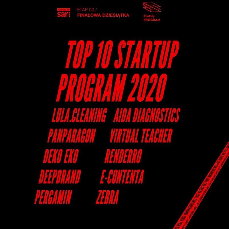 Znamy TOP 10 Startup Program 2020 – zapamiętajcie tę niezwykłą dziesiątkę bo świat jeszcze o nich usłyszy.