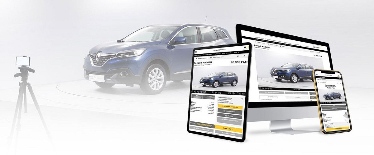 View used cars without leaving your home. Virtual Car 360 implemented in the Renault Selection Polska sales network