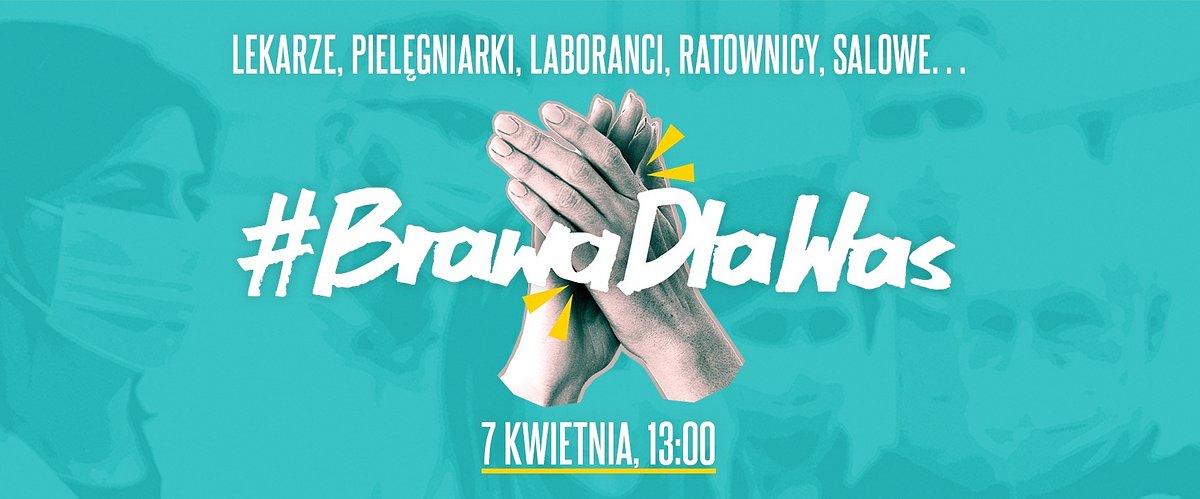 #BrawaDlaWas - media zachęcają do podziękowania pracownikom ochrony zdrowia
