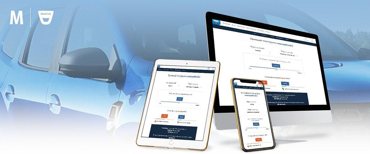 Nowa wersja aplikacji webowej Kalkulator LPG dostępna na stronie marki Dacia w Polsce