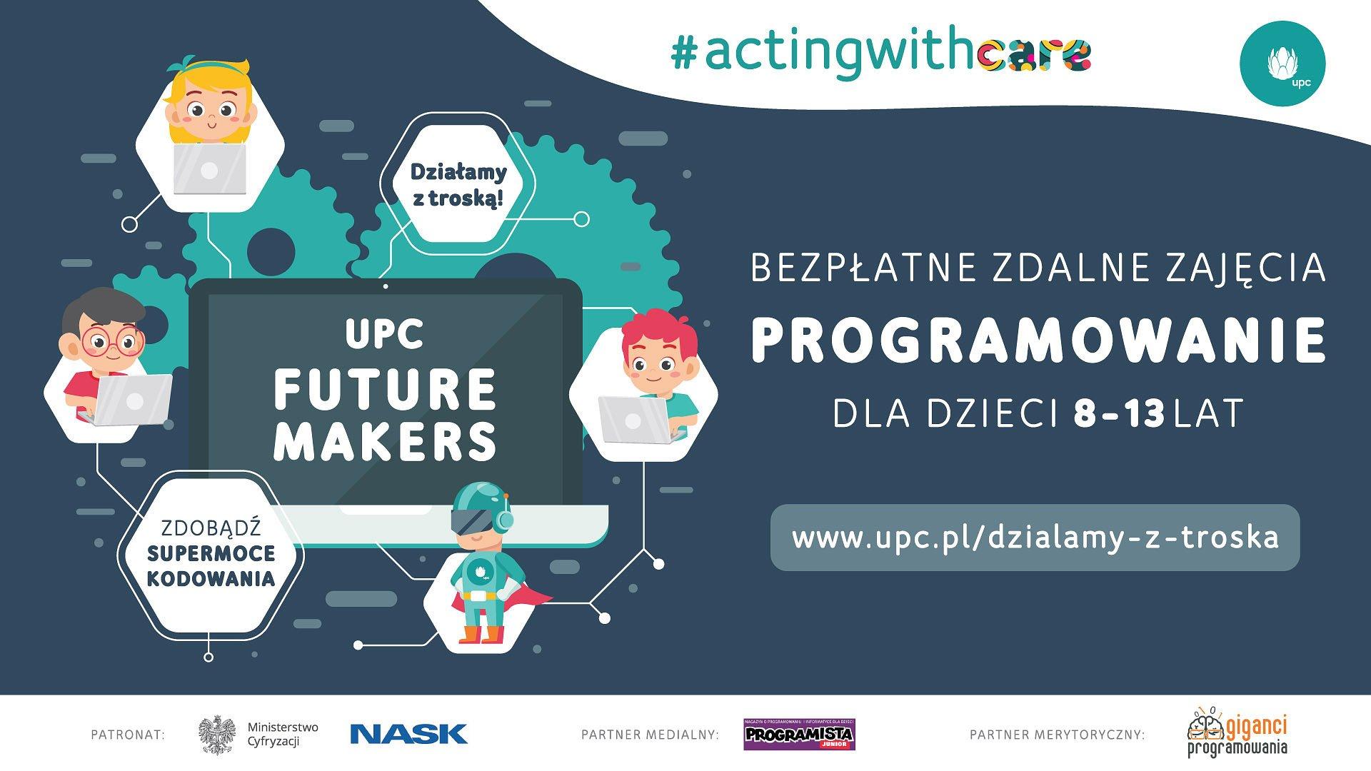 #zostanwdomu i naucz się programować. UPC uruchamia bezpłatne zdalne warsztaty programowania dla dzieci w wieku 8-13 lat