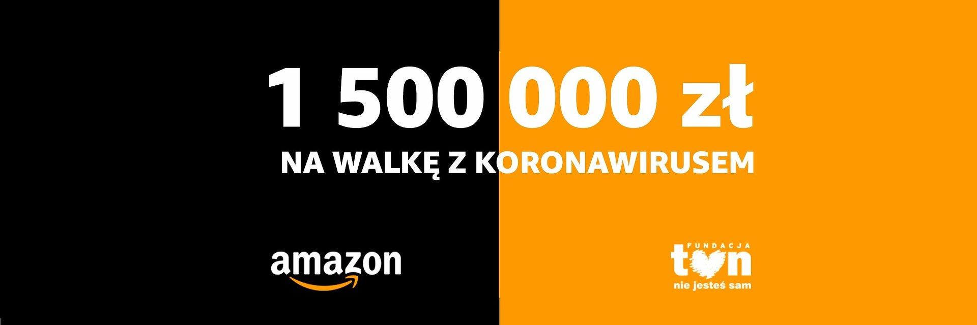 """Fundacja TVN """"Nie jesteś sam"""" otrzymała od Amazon ponad 1,5 mln zł na walkę z koronawirusem"""