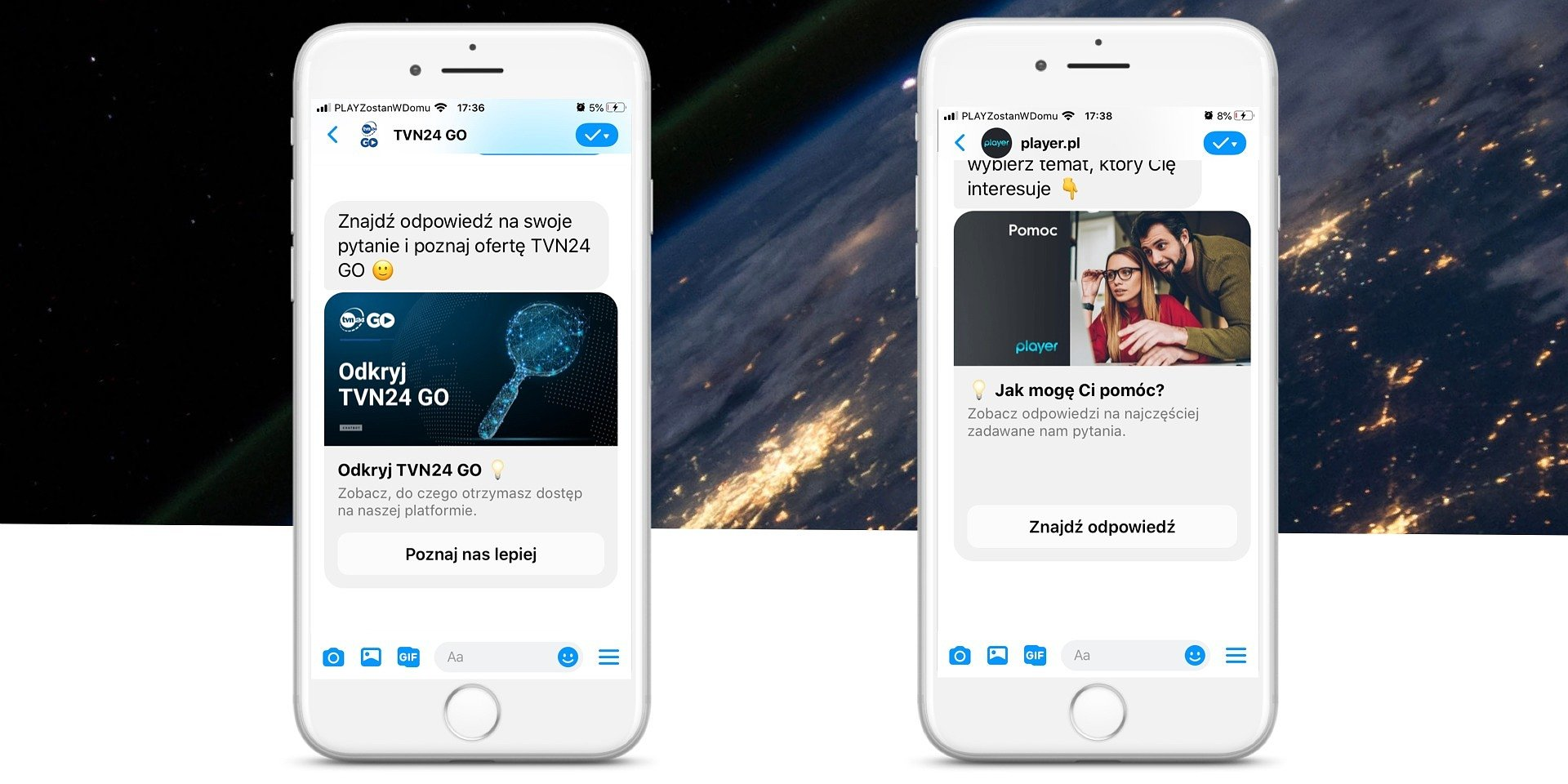 Wirtualni konsultanci pomagają użytkownikom Playera i TVN24 GO