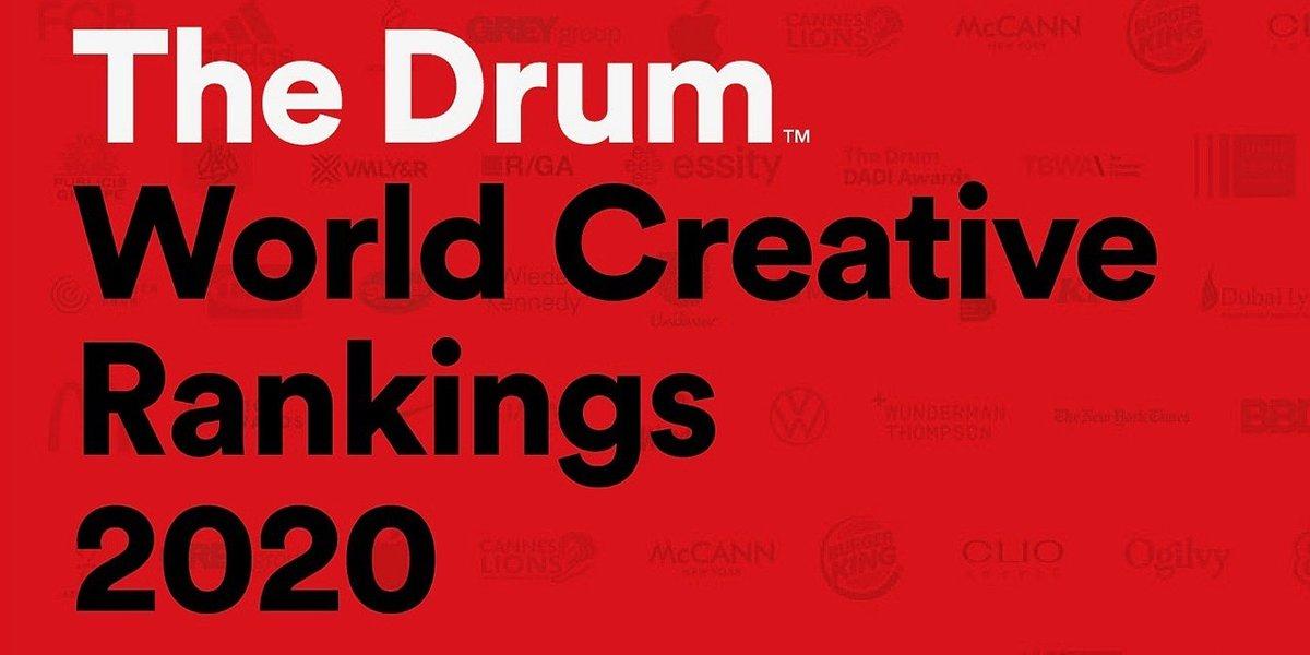 VMLY&R Poland w gronie najczęściej nagradzanych agencji reklamowych na świecie według The Drum World Creative Rankings 2020
