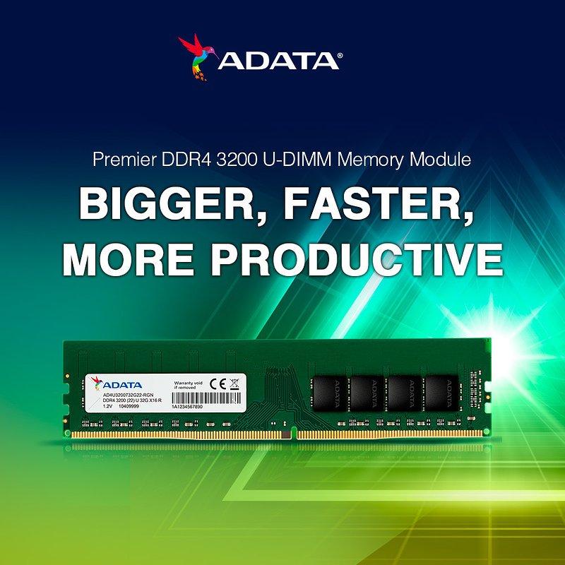 ADATA prezentuje nowe moduły pamięci RAM DDR4 w formatach U-DIMM i SO-DIMM
