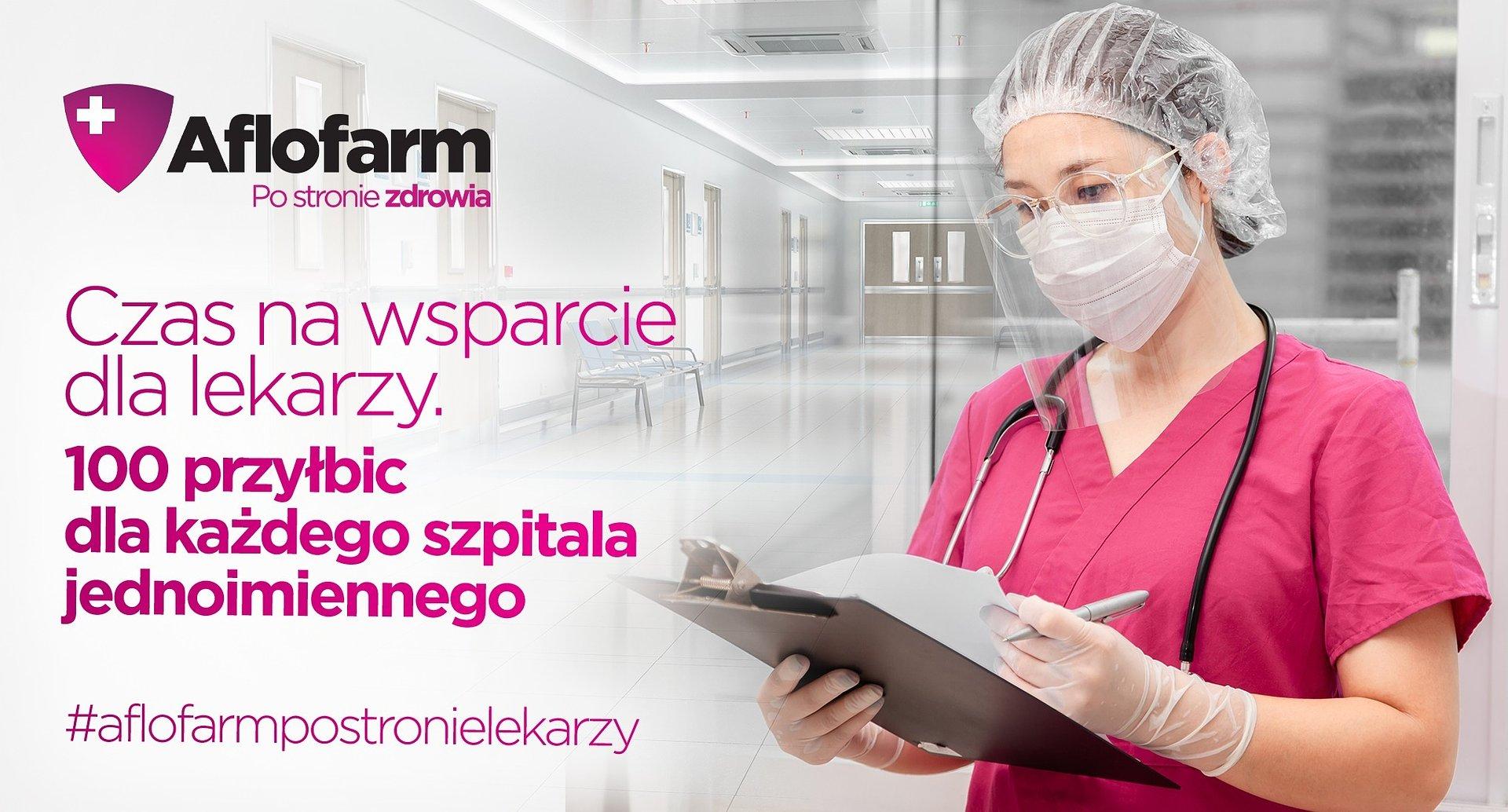 Aflofarm wspiera szpitale zakaźne