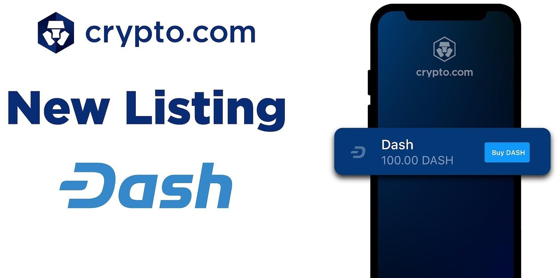 Crypto.com Lists DASH