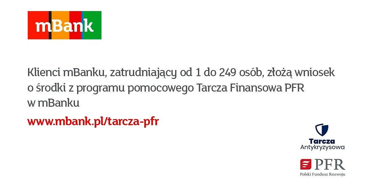 Tarcza Finansowa PFR od dzisiaj w mBanku