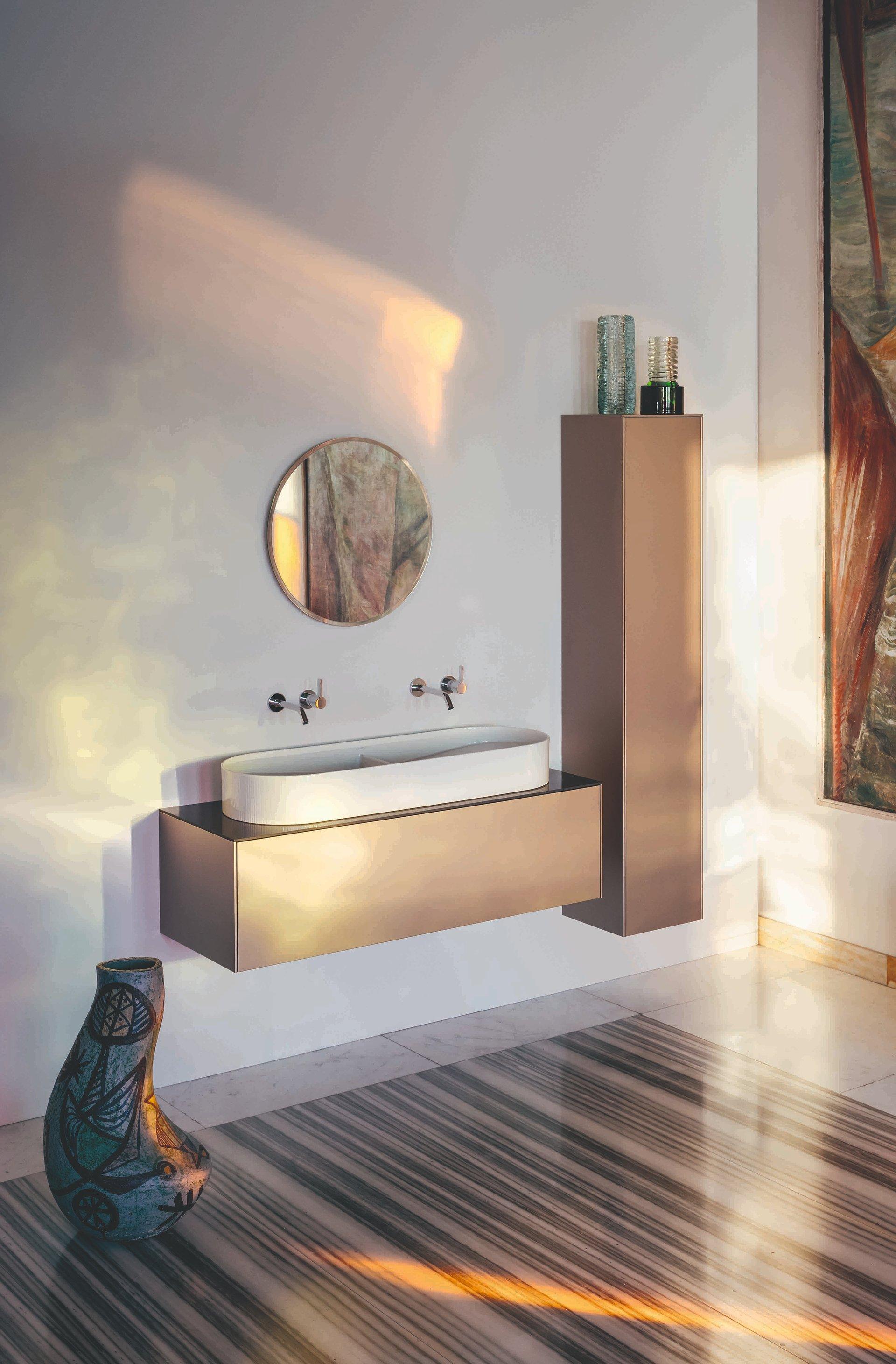 Niespotykane kształty, modne wykończenia, szlachetne ekologiczne materiały, czyli stylowe meble Laufen w połączeniu z funkcjonalnością.
