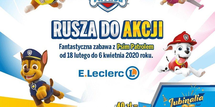 """""""Psi Patrol"""" zawitał do E.Leclerc – akcja lojalnościowa w sklepach"""