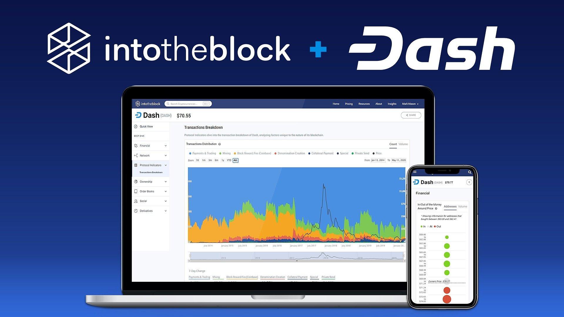 Dash and Analytics Platform IntoTheBlock Partner on Dash insights