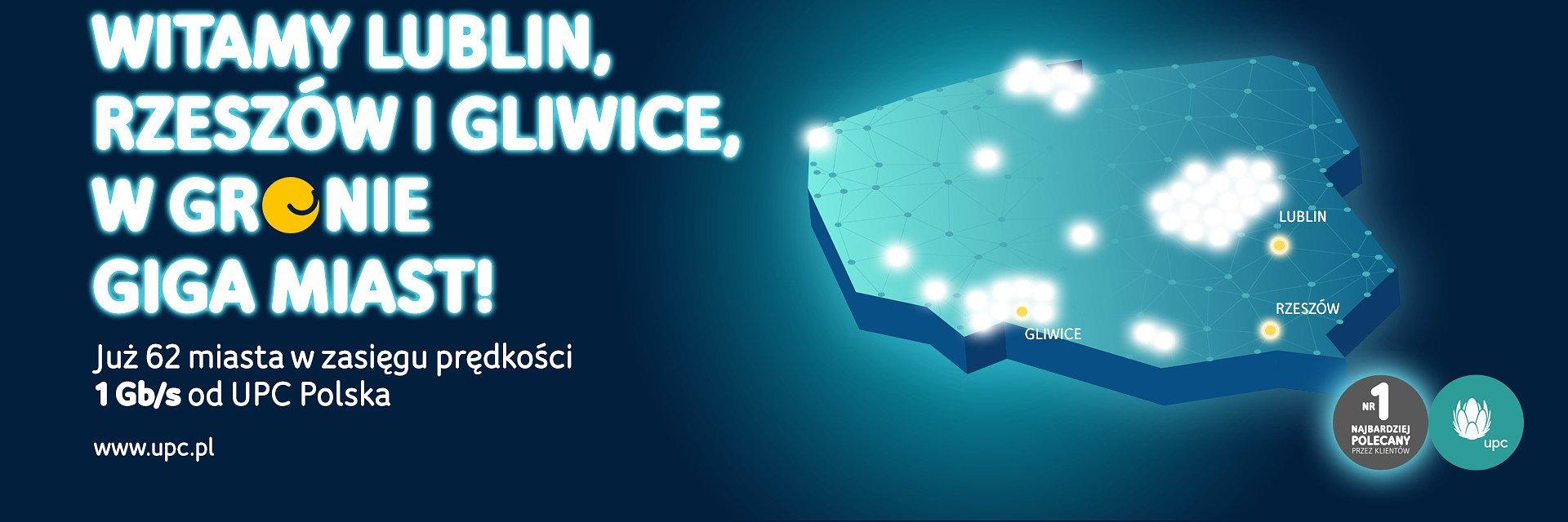 UPC Polska rozszerza zasięg 1Gb/s internetu do 2,5 miliona gospodarstw domowych