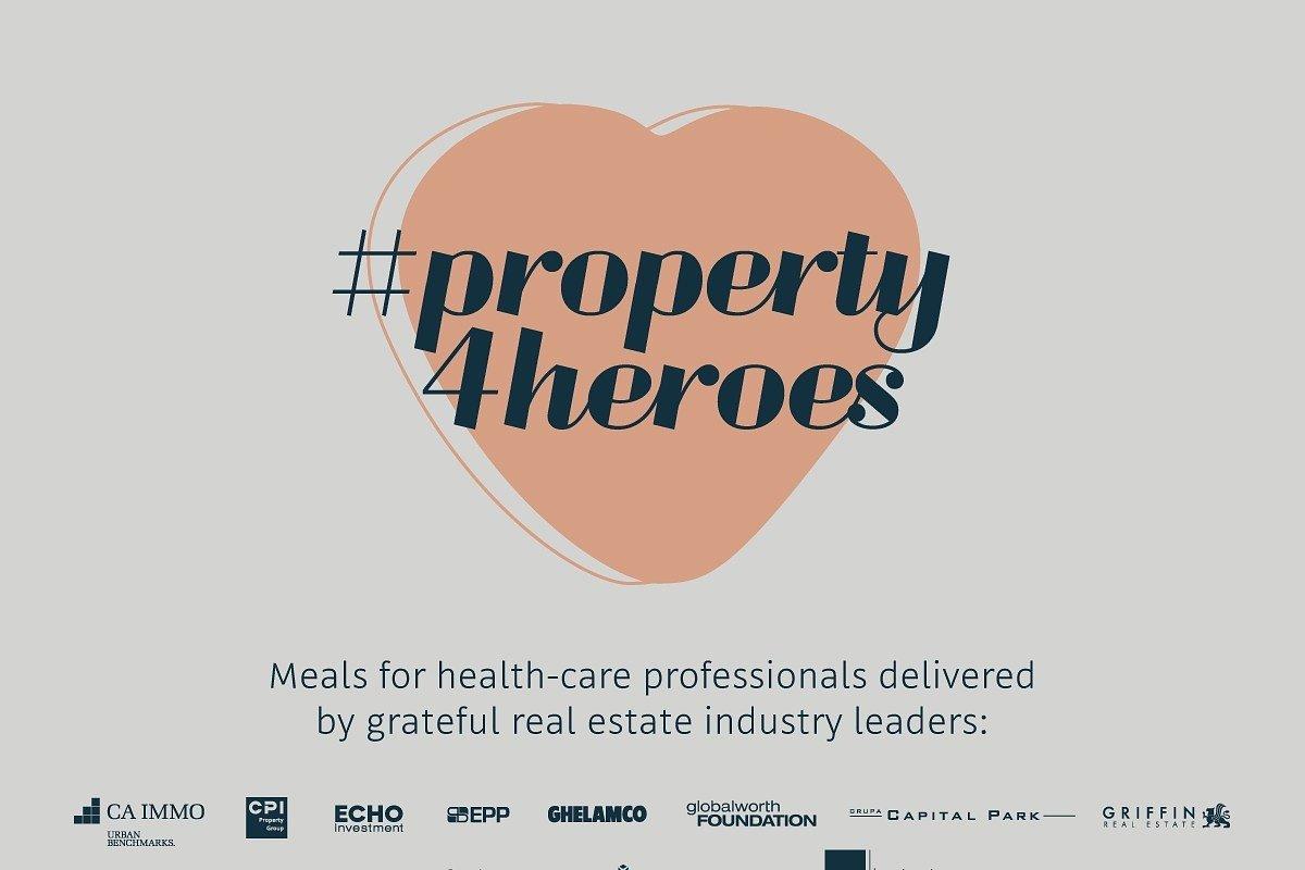Kolejne firmy z branży nieruchomości dołączają do akcji #property4heroes.To już 1150 posiłków dziennie!
