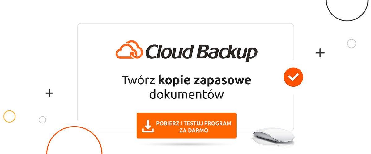 30-dniowa wersja trial w programie Cloud Backup