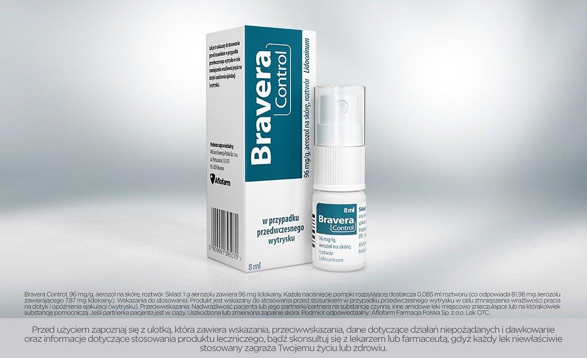 Aflofarm wprowadza nowy lek Bravera Control – lek na przedwczesny wytrysk